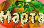 Значение имени марта (марфа), его происхождение, характер и судьба человека, формы обращения, совместимость и прочее